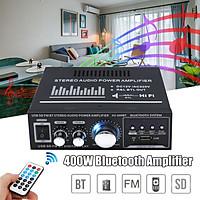 400W Bluetooth USB  HiFi Receiver Digital Home car Amplifier with Remote