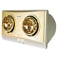Đèn sưởi phòng tắm Navado NAV8002V treo tường 2 bóng hồng ngoại - Hàng Chính Hãng