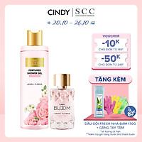 Bộ đôi sữa tắm nước hoa & nước hoa nữ Cindy Bloom Aroma Flower mùi hương ngọt ngào nữ tính 270g + 50ml