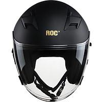 Nón bảo hiểm 3/4 ROC R02 TR-1M Đen Mờ