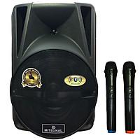 Loa kéo karaoke cao cấp Mitsunal T1202 Chống rung, BASS 30CM, TN Bluetooth Siêu Bass Có Mic Đàm Thoại Thích Hợp các cuộc họp, hội nghị và học trực tuyến trên Zoom - Hàng chính hãng