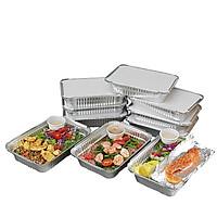 Set 25 hộp nhôm đựng thực phẩm 1 lần 1000ml - Cao cấp - Hàng nhập khẩu - Giải pháp tối ưu thay thế hộp xốp, hộp nhựa dùng 1 lần
