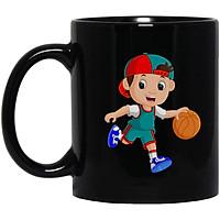 Cốc Sứ Cao Cấp In họa tiết Cậu bé chơi bóng rổ