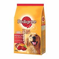 Thức ăn chó Pedigree vị thịt bò & rau củ túi 1.5kg