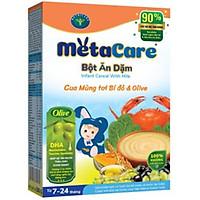 Bột ăn dặm Nutricare Metacare Cua mồng tơi bí đỏ olive (200g)