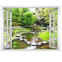 Tranh dán tường cửa sổ cảnh đẹp thiên nhiên - VT0377