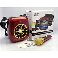 Loa Bluetooth Karaoke YS-A20 xách tay kèm Mic không dây - tặng Vòng tay RUBY may mắn