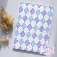 CHO NỮ - Bọc vở họa tiết quả trám dễ thương - bao tập minimal đáng yêu