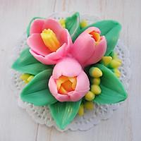 Khuôn Silicon hoa tulip chùm