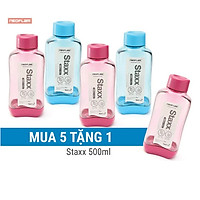 [Hàng chính hãng - Mua 5 tặng 1] Combo 5 Chai đựng nước bằng nhựa Tritan- StaxxS 500ml, Neoflam Hàn Quốc (màu chọn ngẫu nhiên)