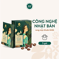 Cà Phê Phin Giấy Túi Lọc HANCOFFEE Drip Bag Blend Hương Hoa Và Thoảng Mùi Trái Cây Vị Đắng Nhẹ, Ngọt Sâu Hộp 5 gói - HND2S