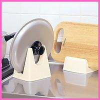 Combo 2 kệ nhựa úp vùng nồi - nắp nồi - thớt - muôi vá dùng cho nhà bếp