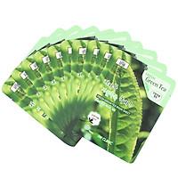 Combo 10 Gói Mặt Nạ Trà Xanh Dưỡng Da và ngừa mụn 3w Clinic Fresh Greentea Mask Sheet 100% Cotton (23ml/Miếng) - Hàn Quốc Chính Hãng