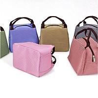 Túi vải đựng hộp cơm giữ nhiệt sọc ngang MissuVN