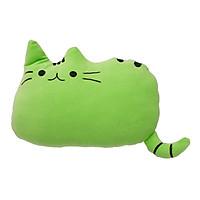 Gối Dành Cho Bé Đi Xe Máy Tạo Hình Chú Mèo Thivi - Xanh Lá (35 x 45 cm)