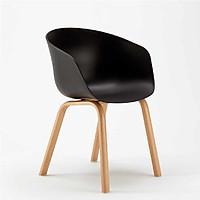 Ghế cà phê B500 nhựa chân gỗ nhiều màu - DAF