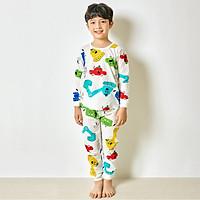 Bộ đồ dài tay mặc nhà cotton giấy cho bé trai U1018- Unifriend Hàn Quốc, Cotton Organic