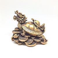 Tượng Đá Long Quy Cõng Con Phong Thủy