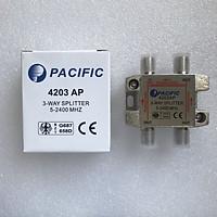 Bộ Chia 3 Pacific 4203AP Dùng Chia Chảo, Truyền Hình Cáp, Anten KTS - Hàng Nhập Khẩu