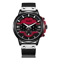 megir 2080 Fashion Quartz Sports Men Watch Multifunctional 3 Dials Chronograph 3ATM Waterproof Luminous Hands Wrist