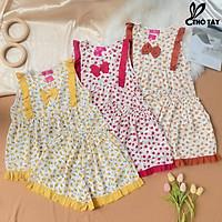 Sét nữ kiểu mặc nhà THỎ TÂY họa tiết phối bèo S365C13