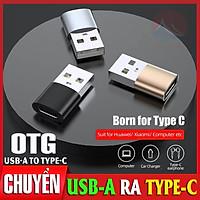 OTG Type-C USB 3.0, Truyền Dữ Liệu Data Nhanh Ổn Định, Vỏ Nhôm Kim Loại Chắc Chắn, Nhỏ Gọn Cắm Là Chạy, bộ chuyển đổi type c sang USB-A, đầu chuyển Type C sang USB cáp otg type C