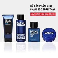Bộ sản phẩm mini chăm sóc toàn thân DASHU Sữa rửa mặt Dầu gội đầu Nước hoa hồng Sáp vuốt tóc JN-B01
