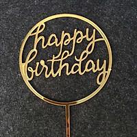 Toppers que cắm trang trí bánh sinh nhật Happy Birthday đám cưới love