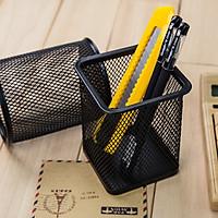 Ống đựng bút kim loại dạng đan lưới bền đẹp, gọn nhẹ, chống gỉ - dụng cụ văn phòng tiện ích