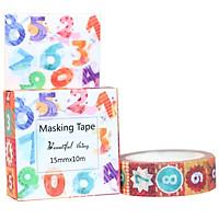 Băng Keo Giấy Trang Trí Masking Tape - Số Đếm