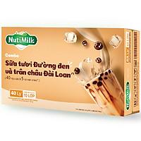 Thùng combo 40 hộp NutiMilk Sữa tươi Đường đen hộp 180ml và 5 túi trân châu Đài Loan 300g