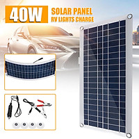 12/18V Solar Panel Kit 15/30W Car Yacht Boat Home Camping Outdoor Battery Charge