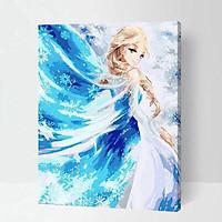 Tranh sơn dầu số hóa Nữ Hoàng Băng Giá Elsa