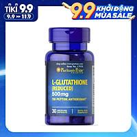 Viên Uống Puritan's Pride  L- Glutathione (Reduced) 500mg 30 viên Hỗ Trợ làm trắng Da, Giảm Nám, chậm quá trình lão hóa, Thải Độc gan, tăng cường hệ miễn dịch, nâng cao khả năng thụ thai, bảo vệ tế bào tổn thương.