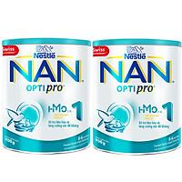 Combo 2 Lon Sữa Bột Nestlé NAN OPTIPRO 1 HMO Lon 900g