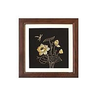 Tranh hoa sen bằng bạc mạ vàng 24k - Quà tặng sang trọng dành cho đối tác nước ngoài