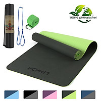 72x24IN Non-slip Yoga Mat TPE Eco Friendly Fitness Pilates Gymnastics Mat Gift Carrying Strap and Storage Bag