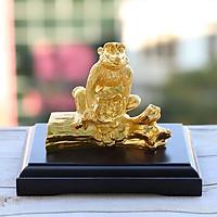Tượng Khỉ phong thủy mạ vàng