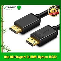 Cáp Displayport to HDMI 2M chính hãng Ugreen 10202 cao cấp