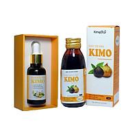 Bộ sản phẩm lọ Tinh dầu tỏi Kimo 30ml và chai Siro tỏi đen Kimo 125ml Thành phần 100% tinh dầu tỏi nguyên chất