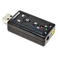 USB Ra Sound 3D 7.1 đầu ra âm thanh chuẩn cho máy tính và laptop