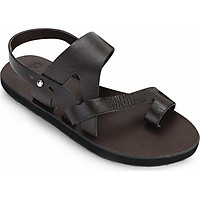 Giày Sandal Da Nam Xỏ Ngón Casual - Nâu