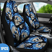 1Pcs Blue Printed Universal Car Seat Cover Protector Auto Front Seat Cushion