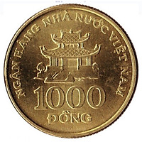 Combo 4 đồng xu 1000 đồng Việt Nam 2003