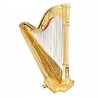 Mô Hình Kim Loại 3D Tự Lắp: Đàn Harp (Hạc Cầm) - Mô Hình Lắp Ráp Giải Trí - Xả Stress