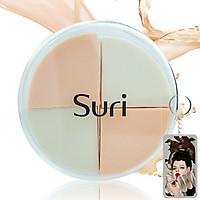 Bông phấn trang điểm 4 miếng Suri tặng kèm móc khoá