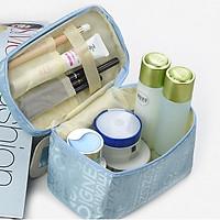 Túi đựng mỹ phẩm ngăn to để đồ trang điểm makeup SOIGNE du lịch đa năng vải Oxford chống thấm nước cao cấp