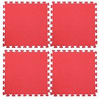 Bộ 4 tấm Thảm xốp lót sàn an toàn Thoại Tân Thành - màu đỏ (60x60cm)