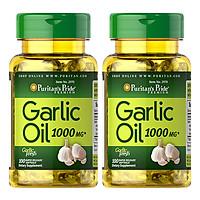 Thực Phẩm Chức Năng - Bộ 2 Viên Uống Dầu Tỏi Tăng Cường Hệ Miễn Dịch, Giảm Cholesterol Garlic Oil 1000mg (100 Viên)