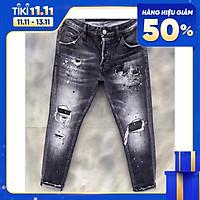 Quần Jean Nam Co Dãn thương hiệu Julido Store, Quần Bò Nam xám mẫu mới 2021 QJ123